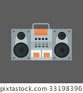 Tape Recorder Icon Modern Audio System 33198396