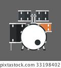 Drum Set Icon Music Instrument Concept 33198402