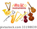 Music Instruments Set Banner With Copy Space 33198639