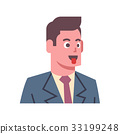 Male Show Tongue Emotion Icon Isolated Avatar Man 33199248