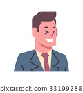 Male Laugh Emotion Icon Isolated Avatar Man Facial 33199288