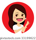 Woman Eating Sushi 33199622