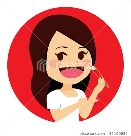 Woman Eating Sushi 33199622