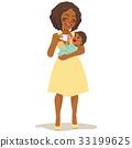 Woman Feeding Baby 33199625