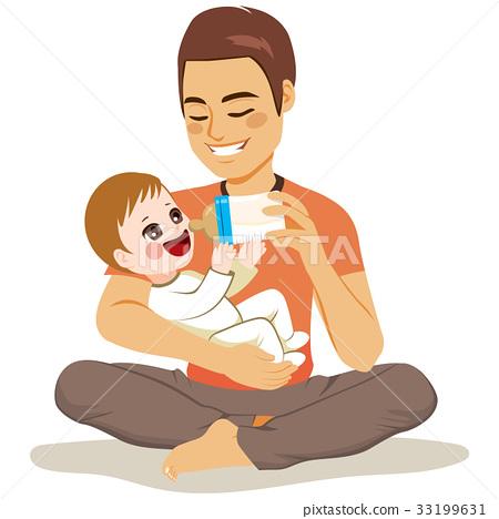 Father Feeding Baby 33199631