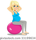 Pregnant Woman Exercise 33199634