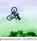 Silhouette, Bicycle, jumping 33200515