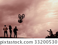 Bicycle, Silhouette, jumping 33200530