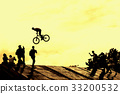 Silhouette, Bicycle, jumping 33200532