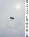 Two blimps, hot air airships on the background of 33201016