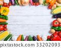 蔬菜 蔬菜簇 框架 33202093