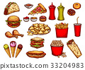 food, fast, vector 33204983