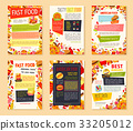 Fast food meal and drink banner template set 33205012