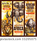 safari, african, sketch 33205075
