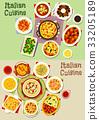 italian cuisine vector 33205189