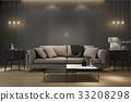 retro luxury nice soft sofa in minimal living room 33208298