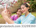 女性 女 花朵 33209360