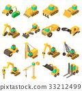 Building vehicles icons set, isometric style 33212499