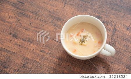 汤 汤盘 蛤蜊浓汤 33218524