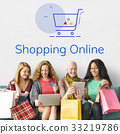 Showing Cart Trolley Shopping Online Sign Graphic 33219786