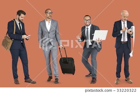 Group of business people wearing suit standing in a row 33220322