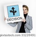 Roadsign Direction Graphic Icon Word 33220491