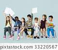 Group of students educated child development 33220567