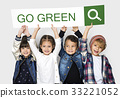 Go Green Responsibility Nature Environment Word 33221052