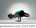 young gymnastics coach hands support the body 33221991