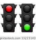 Traffic lights. Red, green 33223143