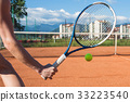 Female hand with tennis racket 33223540
