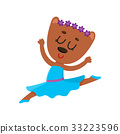 Cute bear character, ballet dancer in pointed 33223596