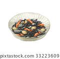 羊栖菜 羊樨菜 深色可食用海苔 33223609