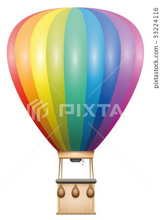 Captive Balloon Rainbow Colored 33224116
