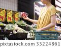 슈퍼에서 쇼핑하는 젊은 주부 33224861