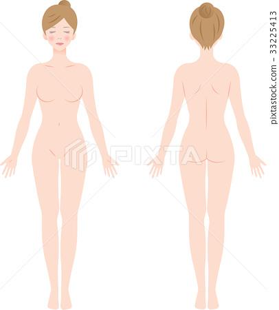 女性裸體全身 33225413