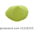 green powder heap isolated on white background 33226255