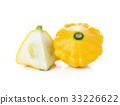 Yellow zucchini squash isolated on white 33226622