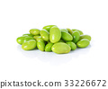 green soybeans on white background 33226672