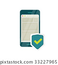 mobile security vector 33227965