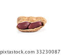 Peanuts on white background 33230087
