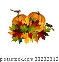 Thanksgiving vector autumn composition 33232312
