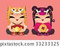 Chinese zodiac lucky kids: Tiger and Pig 33233325