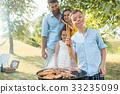 barbecue, family, children 33235099