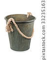 Decorative iron bucket with rope handle 33235163