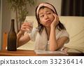 喝燒酒的少婦 33236414