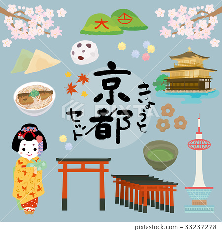 Kyoto illustration set 33237278