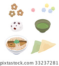Kyoto Japanese sweets illustration set 33237281