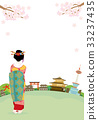Kyoto Maiko townscape illustrations 33237435
