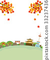 Kyoto autumn townscape illustrations 33237436